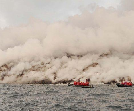 Dem aktiven Vulkan ganz nah