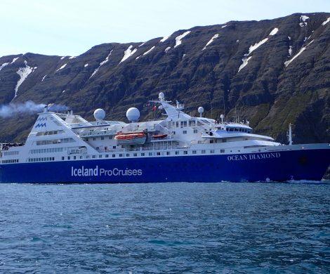 Die Ocean Diamond ist das perfekte Schiff für die engen Fjorde