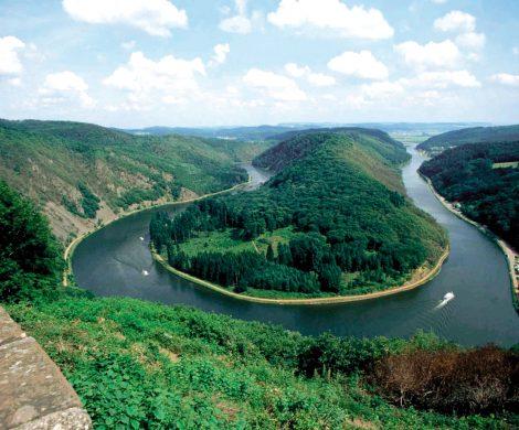 Tolles Panorama: Die Saarschleife
