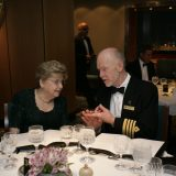 Mit Kapitän Ryndt am Captain´s Table