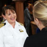 Der erste weibliche Cunard-Kapitän, Inger Thorhauge