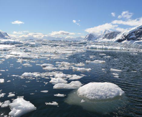 Schon kleine Eisschollen lassen vermuten, welche Gefahr Eisberge unter Wasser bergen