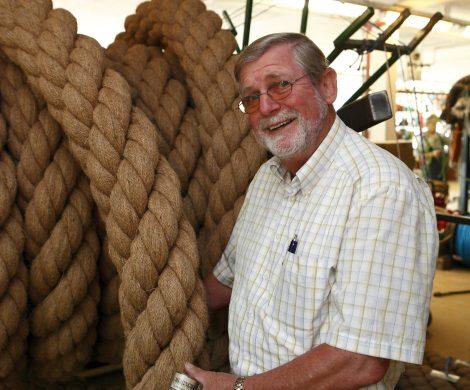 eftsfuehrer Klaus Lippmann ist der älteste noch existierende Reepschlägerbetrieb