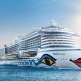 Noch vor der offiziellen Taufreise geht die AIDAperla auf einwöchige Einführungsfahrten durch das westliche Mittelmeer.