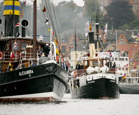 Immer am zweiten Juliwochenende findet alle zwei Jahre das Flensburger Dampfschifftreffen statt