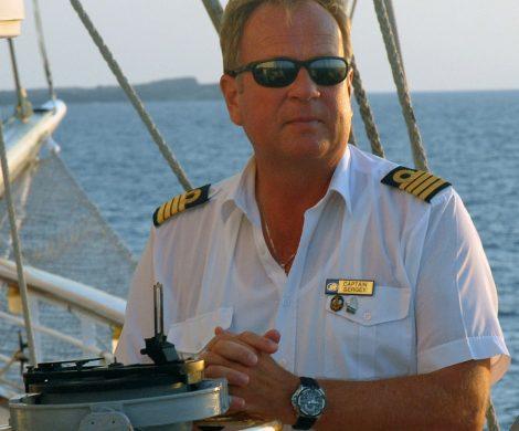 Kapitän Sergey Utitsyn zieht Großsegler wie die Star Clipper anderen Schiffen vor