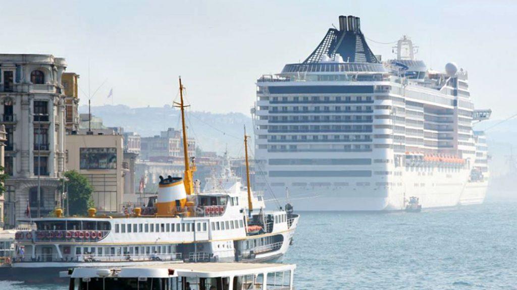Kreuzfahrtanleger Karakoy, in Istanbul, Türkei