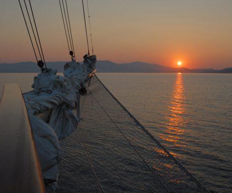Sonnenaufgang kurz nach sechs