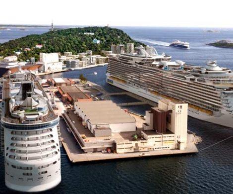 Das neue Kreuzfahrtterminal in Kristianssand