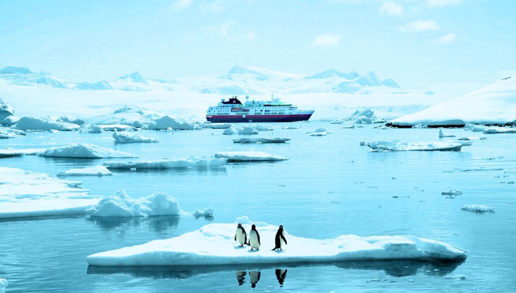 Die MS Fram in der Antarktis