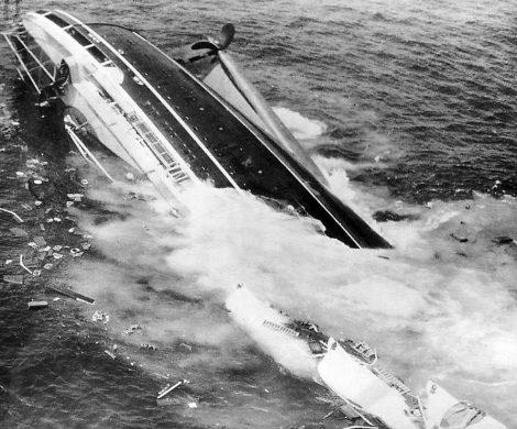 Die sinkende Andrea Doria