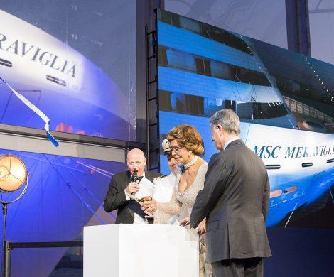 Filmstar Sophia Loren ist seit 2003 Taufpatin aller MSC Kreuzfahrtschiffe