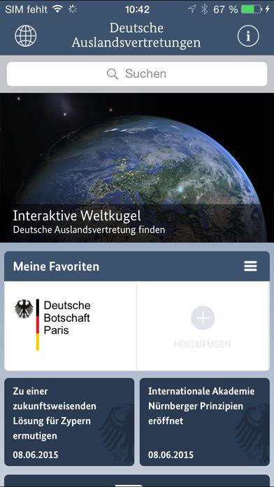 Die App Auswärtiges Amt - Auslandsvertretungen weltweit enthält viele nützliche Hinweise