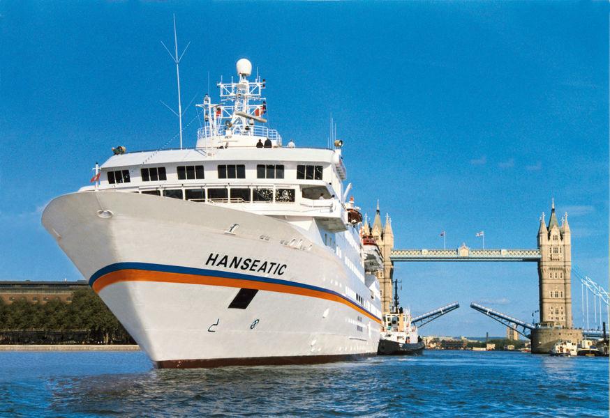 Die Hanseatic von Hapag-Lloyd