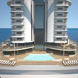 MSC Kreuzfahrten Specials, MSC Seaside, panoramic aft pool