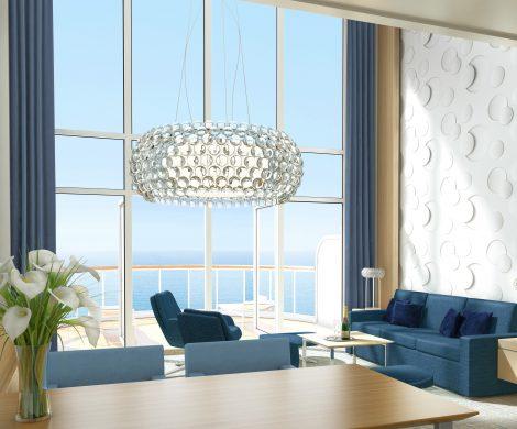 Die Penthouse-Suite über zwei Decks mit einer Fläche von 73 Quadratmetern