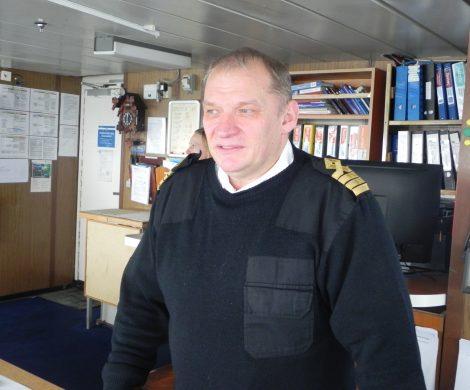 Man lernt nie aus, so Kapitän Nestrov