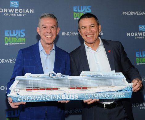 """Norwegian Cruise Line gibt bekannt, dass Elvis Duran, US-amerikanischer Radiomoderator, Rundfunk-Persönlichkeit und Live-Moderator der beliebter Sendung """"Elvis Duran and the Morning Show"""", Pate des neuesten Schiffes Norwegian Bliss sein wird. Als Pate wird Elvis die Ehre zu teil, die Norwegian Bliss am 30. Mai 2018 an der Pier 66 in Seattle im Rahmen einer feierlichen Zeremonie zu taufen"""