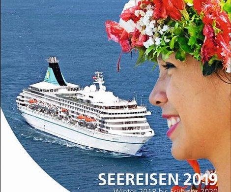"""Phoenix Reisen stellt im neuen Katalog """"Seereisen 2019"""" auf 268 Seiten die neuen Routen und Kreuzfahrten der Hochseeschiffe MS Amadea, MS Deutschland, MS Artania und MS Albatros vor."""