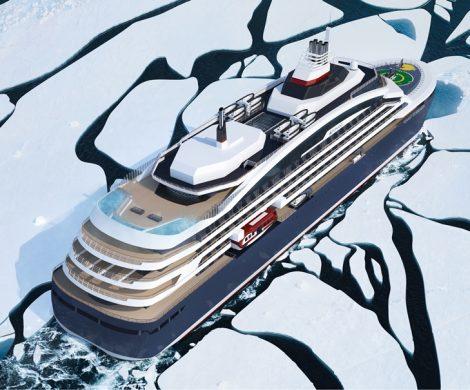Die LNG-Eisbrecheryacht   soll den geographischen Nordpol erreichen
