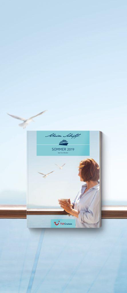 Mit dem neuen Katalogkonzept Magalog, einer Mischung aus Magazin und Katalog, sowie einem neuen Marken-Claim geht TUI Cruises in den Som