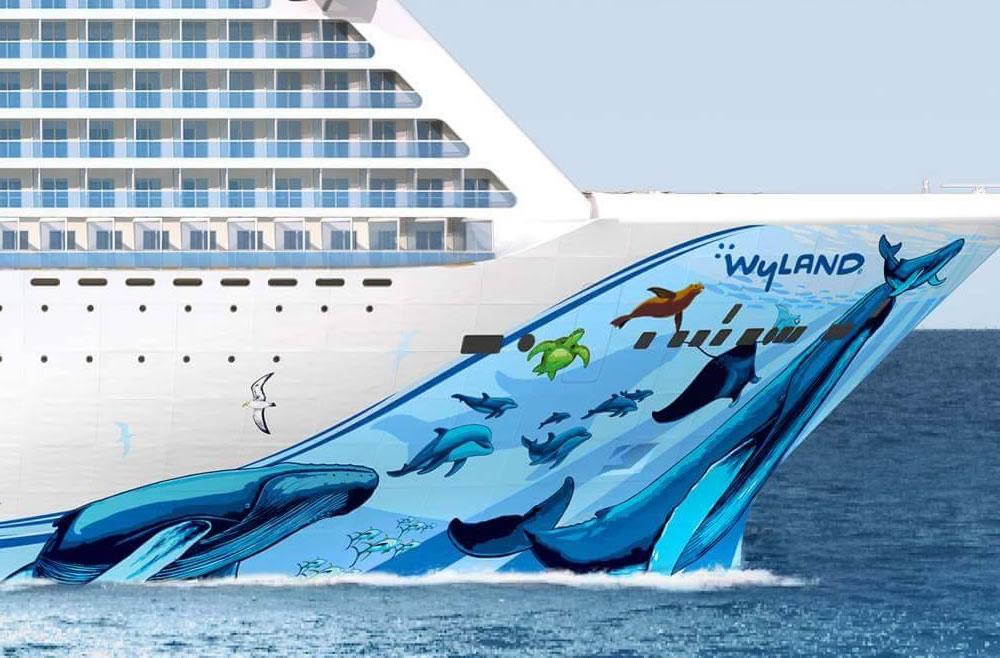 Die Norwegian Bliss, das neueste Schiff der Meyer Werft in Papenburg, wird am Sonnabend, 17. Februar 2018, die Baudockhalle verlassen. Das Manöver soll gegen 8 Uhr beginnen. Bevor die 334 Meter lange und 41,4 Meter breite Norwegian Bliss die Halle verlassen kann, wird am Freitag ein Schwimmteil der AIDAnova, das in den vergangenen Monaten gebaut wurde, aus der Halle gezogen
