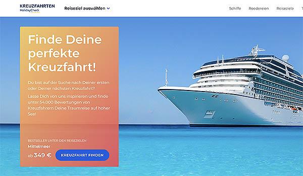 Das bekannte ReiseportalHolidaychecksteigt jetzt auch ins Kreuzfahrtgeschäft ein. Die neue Internet-Plattform startet mit 5.000 Kreuzfahrten von 75 Reedereien. Mit dem Angebot zielt Holidaycheck auf Neulinge auf dem Meer.