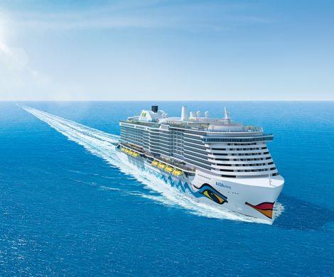 Die Aida Nova ist das erste Kreuzfahrtschiff der Welt, das komplett mit emissionsarmen Flüssiggas (LNG) betrieben werden kann