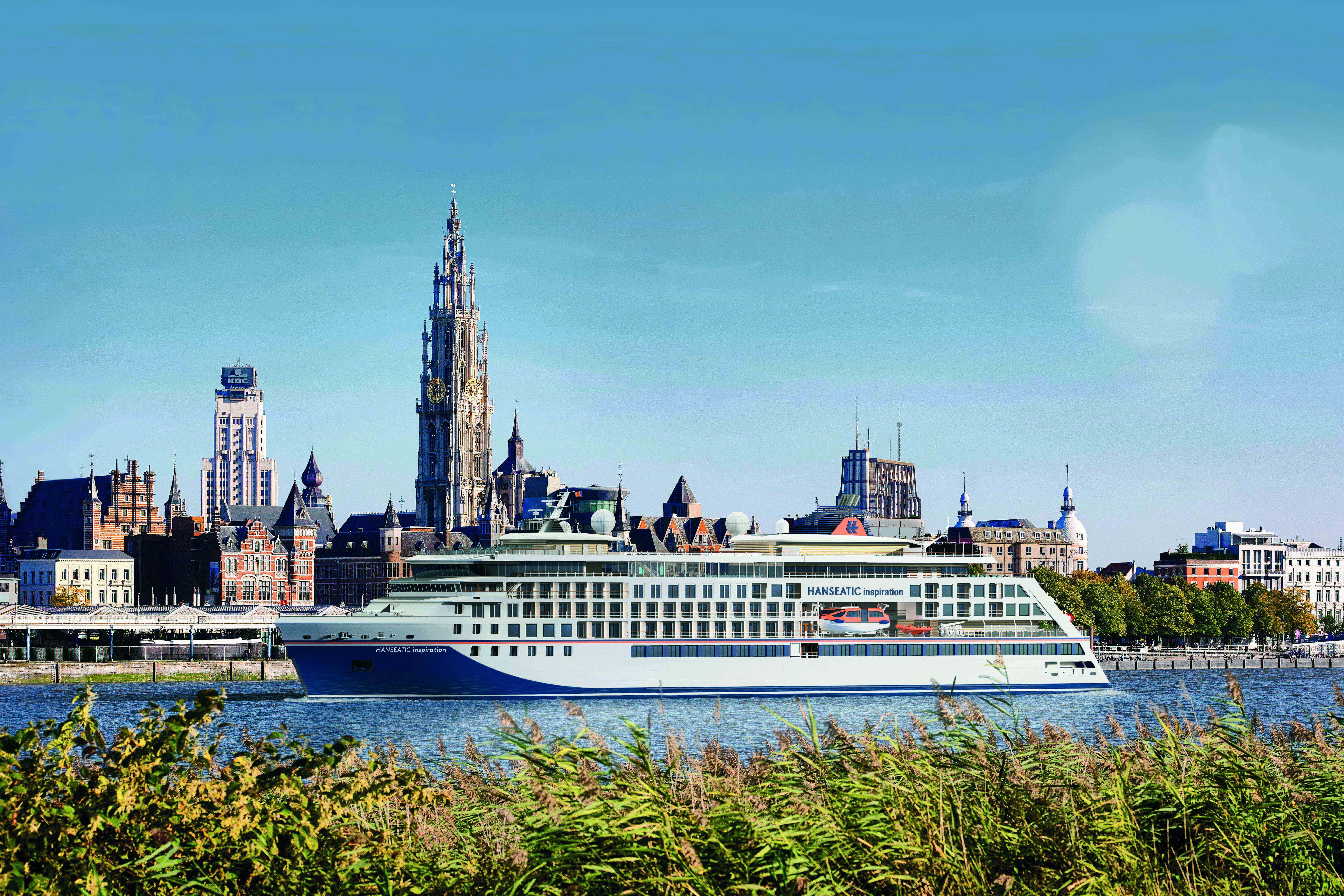 Hapag-Lloyd Cruises wird sein zweites Expeditionsschiff am 13. Oktober 2019 vor der Kulisse der belgischen Hafenstadt Antwerpen auf den Namen HANSEATICinspiration taufen. Zum ersten Mal in der Stadtgeschichte wird damit ein Kreuzfahrtschiff in Antwerpen getauft.