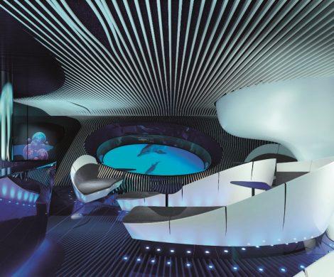 Die erste multisensorische Unterwasserlounge