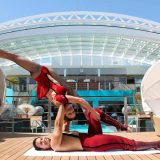 """Auf vier Reisen der Europa 2 heißt es dieses Jahr """"Manege frei"""", wenn der berühmte Circus Roncalli auf dem Luxusschiff gastiert. Mit Clownerie, Artistik und Magie erleben Kreuzfahrer auf der Europa 2 eindrucksvolle Shows."""