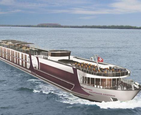Die Reederei Swiss Excellence River Cruise lässt in einer Werft in Belgrad den Fluss-Luxusliner Excellence Countess für das Reisebüro Mttelthurgau bauen. Es ist das zehnte Schiff der Flotte, ist 135 Meter lang und bietet in 89 Kabinen Platz für 178 Passagiere.