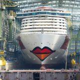 Das jüngste Mitglied der AIDA Flotte wird ab Dezember 2018 über die Weltmeere fahren. Ihr Lächeln erhält AIDAnova derzeit in der Meyer Werft in Papenburg.