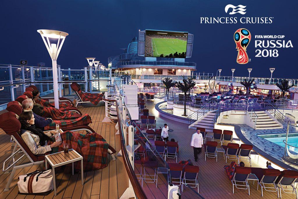 Passagiere von Princess Cruises (www.princesscruises.de) können die Fußball-WM in Russland auch während ihrer Kreuzfahrt hautnah erleben.
