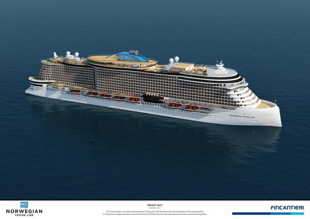 Norwegian Cruise Line hat die bestehende Option für zwei weitere Schiffe der Leonardo-Klasse in Festbestellungen umgewandelt. Die Auslieferung durch die Fincantieri-Werft ist für die Jahre 2026 und 2027 vorgesehen.