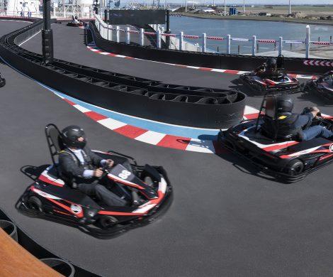 Während einer Kreuzfahrt eine Woche immer nur im Kreis fahren können ab sofort Gäste auf der Norwegian Bliss, wenn sie sich einen Pass für unbegrenzten Zugang zur schiffseigenen Go-Kart-Bahn kaufen.