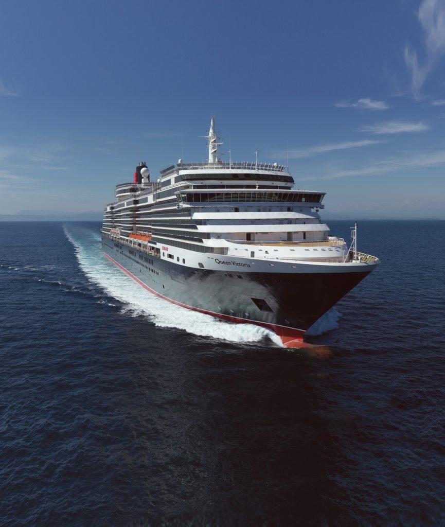 Das Kreuzfahrtschiff Queen Victoria hat zum ersten Mal den Kieler Hafen angelaufen.