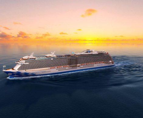 """Das fünfte Royal-Class-Schiffes von Princess Cruises für 3.600 Passagiere wird auf den Namen Enchanted Princess (""""Zauberhafte Prinzessin"""") getauft."""
