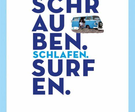 Rezension des Reisebuchs Schrauben.Schlafen. Surfen. von Martin Röhrig aus dem DeliusKlasing Verlag. Mit dem VW Bus von Hamburg an den Atlantik.