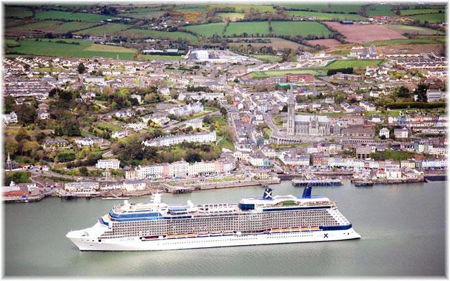 Der Hafen Cork wird in diesem Jahr 30 Prozent mehr Passagiere verzeichnen. 188.000 Passagiere, kommen bei 94 Anläufen von Kreuzfahrtschiffen nach Cobh