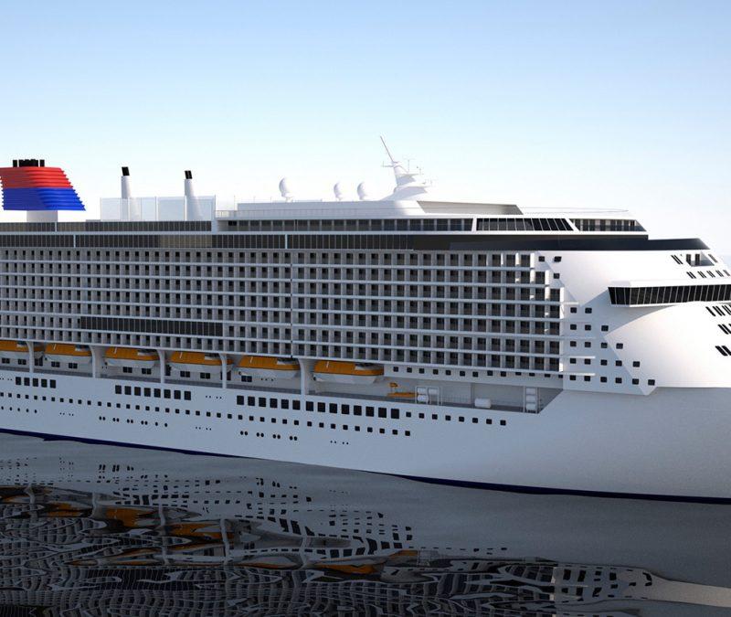 Die in Rostock jetzt auf Kiel gelegte Global 1 wird mit bis zu 12.000 Menschen an Bord das größte Kreuzfahrtschiff der Welt.