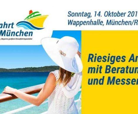 Am 14. Oktober findet in München die zweite Auflage der Kreuzfahrt Messe statt. Mit dabei sind in diesem Jahr wieder zahlreiche namhafte Reedereien