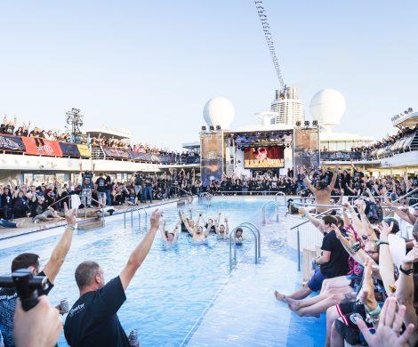 Metal-Fans aus ganz Europa waren bei der siebte Ausgabe der lautesten Kreuzfahrt Europas, der Full metal Cruise, dabei, die in Bremerhaven zu Ende geht.
