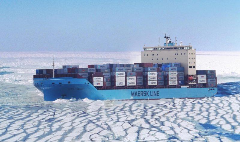 Der größte Schifffahrtskonzern der Welt, die dänische Reederei Maersk, hat erstmals ein großes Containerschiff durch die Nordostpassage geschickt.