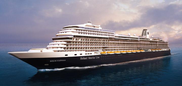 Die Nieuw Statendam, deren Premierenfahrt am 5. Dezember erfolgt, wird neues Flaggschiff von HollandAmerica und bietet Platz für 2.666 Gäste