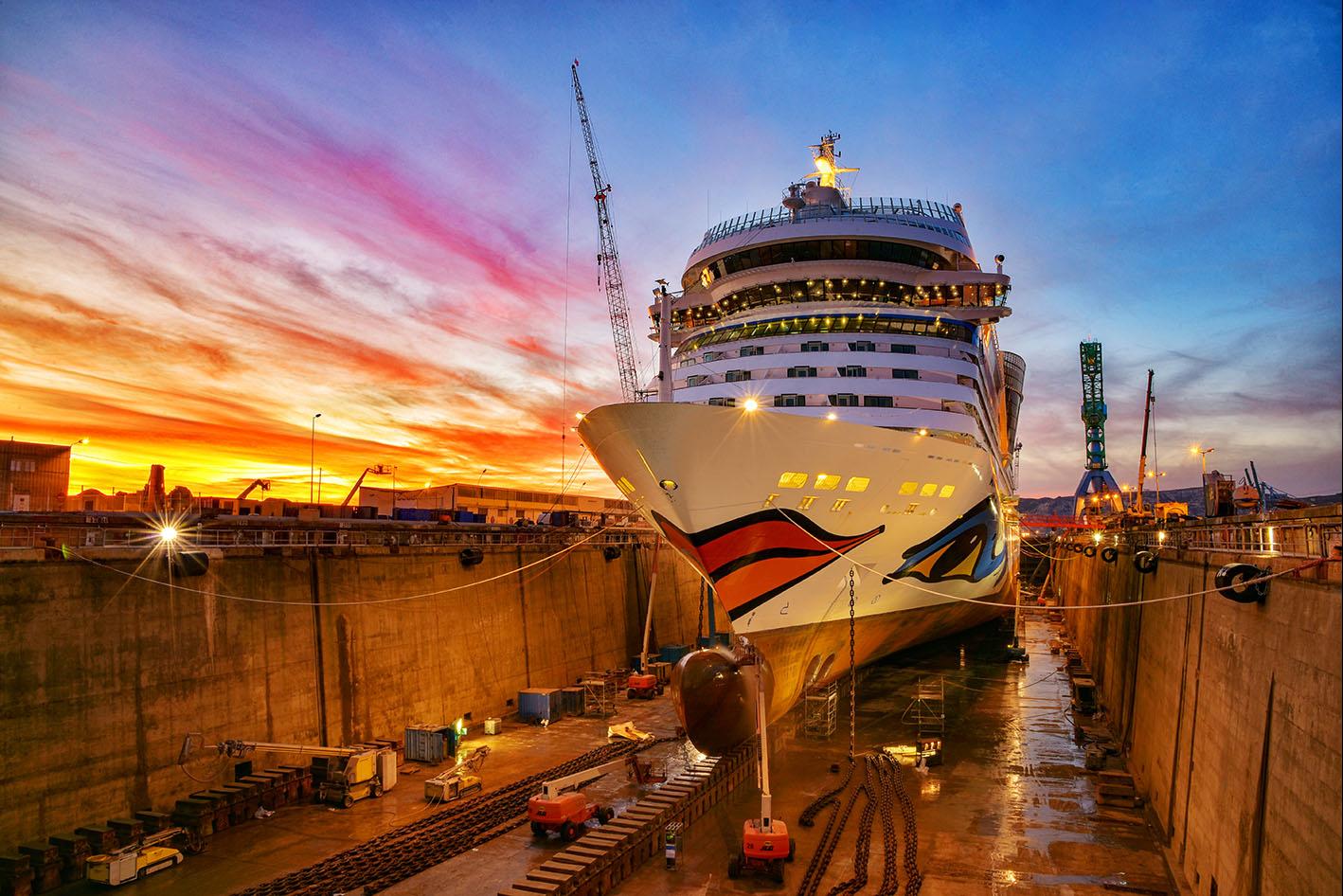 Die AIDAsol wurde in Marseille komplett renoviert: An Bord fanden sowohl zahlreiche optische Neuerungen als auch technische Updates statt