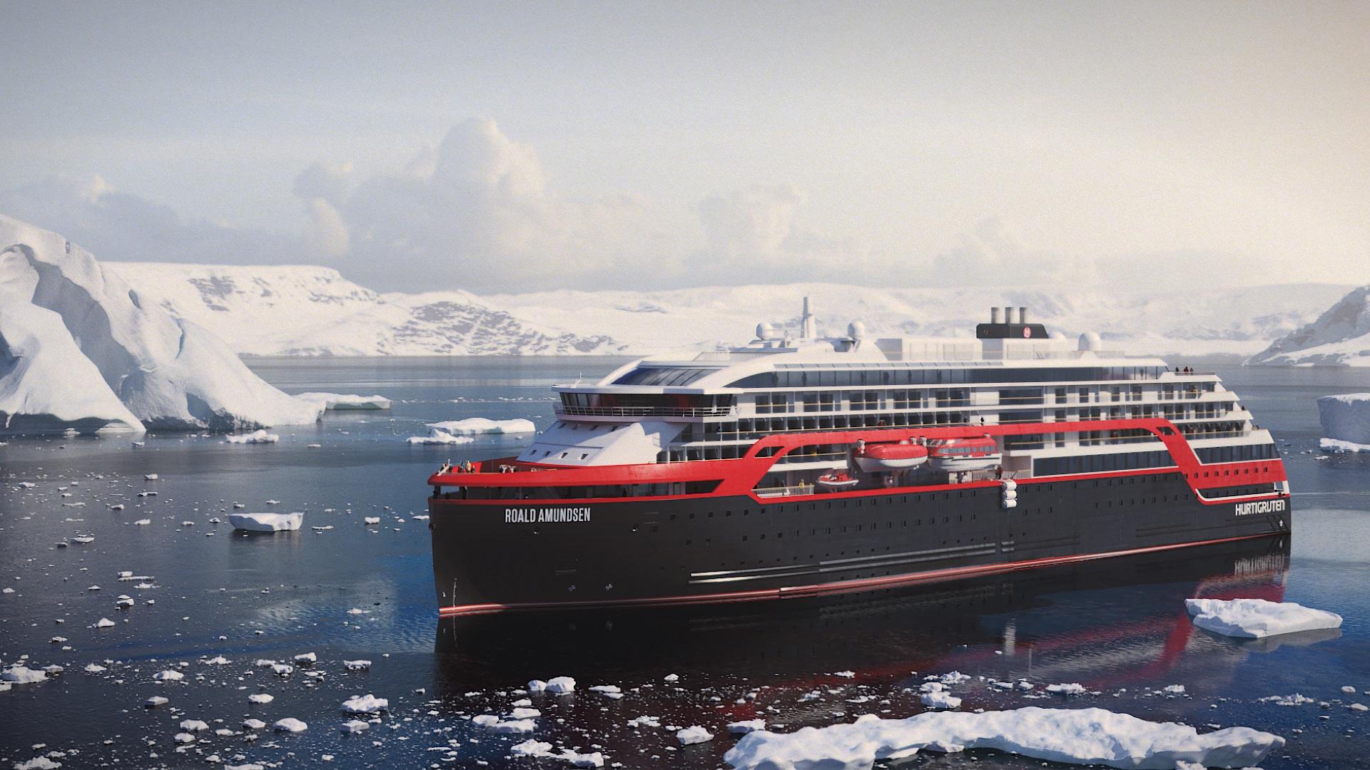 Hurtigruten wird auch das zweite im Bau befindliche Hybrid-Expeditionsschiff, die Fridtjof Nansen, bei einigen Reisen ab/bis Hamburg einsetzen.