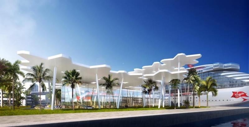 Der weltgrößte Kreuzfahrthafen Miami stellt für Virgin Voyages ein eigenes Terminal bereit. Die Scarlet Lady soll 2021 von dort aus in die Karibik fahren.