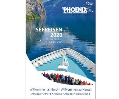 Ab sofort ist der Katalog Seereisen 2020 von Phoenix Reisen erhältlich, das neue Programm für den Reisezeitraum Winter 2019 bis Frühjahr 2021