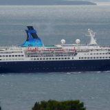 Am Kreuzfahrtterminal Altona verabschiedet sich ein besonderer Gast, ein Stück Hamburger und Deutsch-Deutsche Schifffahrtsgeschichte: Die Saga Pearl 2